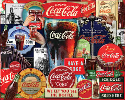 Coca-Cola Decades of Tradition 1000 Piece Jigsaw Puzzle