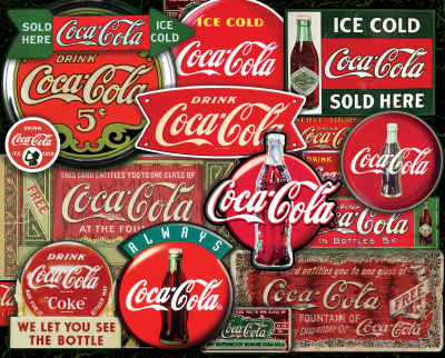 Coca-Cola Classic Signs 1000 Piece Jigsaw Puzzle
