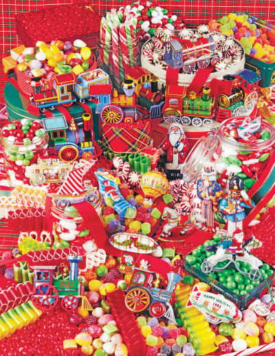 Christmas Candies 500 Piece Jigsaw Puzzle