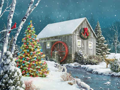 The Falling Snow 500 Piece Jigsaw Puzzle
