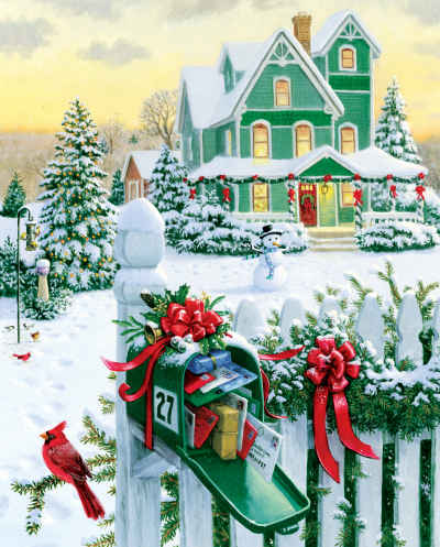 Holiday Mail 1000 Piece Jigsaw Puzzle