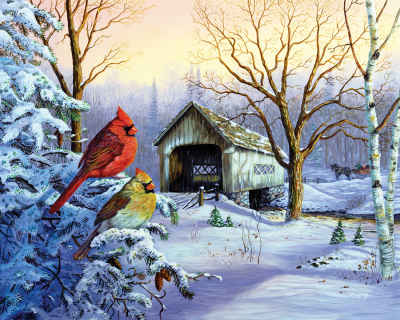 Snowy Haven 1000 Piece Jigsaw Puzzle