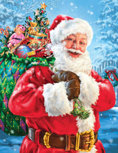 Santa's Magic Bag 1000 Piece Jigsaw Puzzle