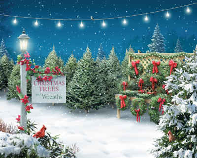 Christmas Tree Lane 1000 Piece Jigsaw Puzzle