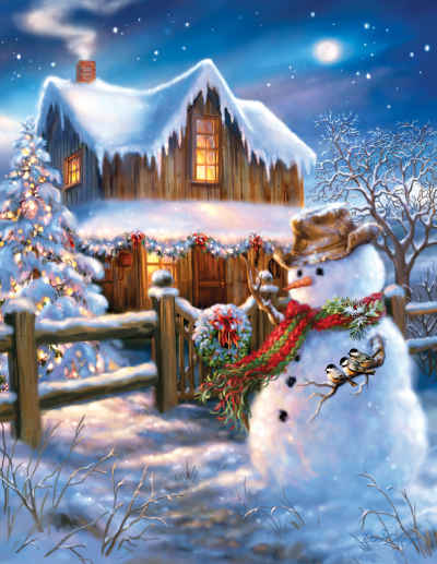 A Country Christmas 500 Piece Jigsaw Puzzle