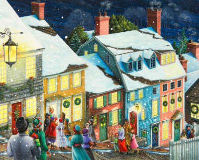 Christmas Carolers 1000 Piece Jigsaw