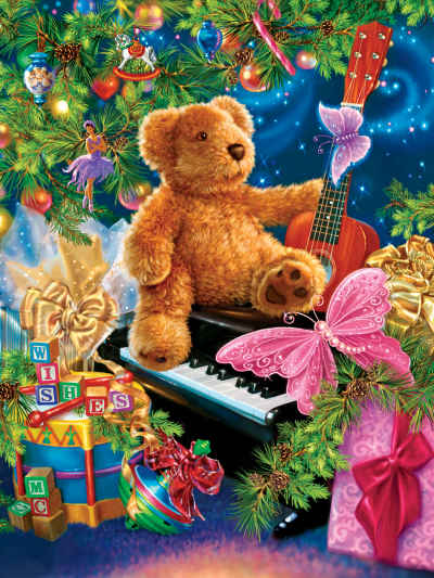 Christmas Bear Wishes 400 Piece Jigsaw Puzzle