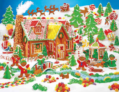Gingerbread Fun 400 Piece Jigsaw Puzzle