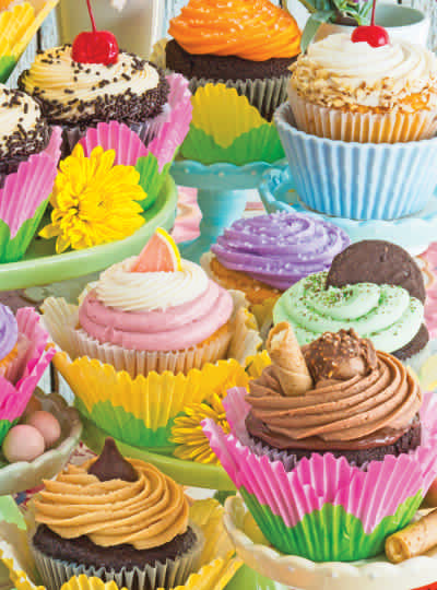 Cupcake Treats 1000 Piece Delicious Delights Jigsaw Puzzle
