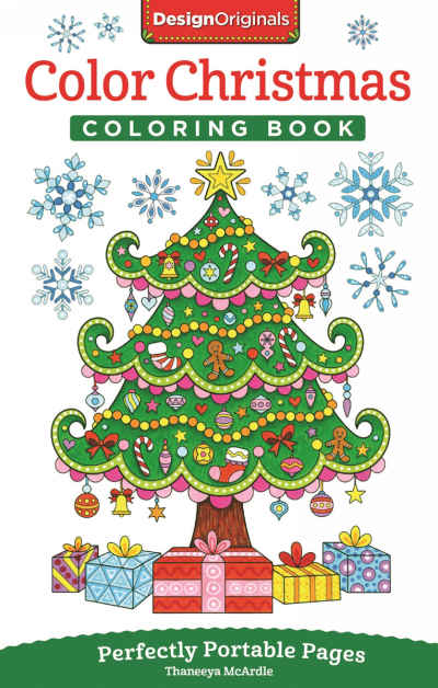 Color Christmas On The Go Adult Coloring Book