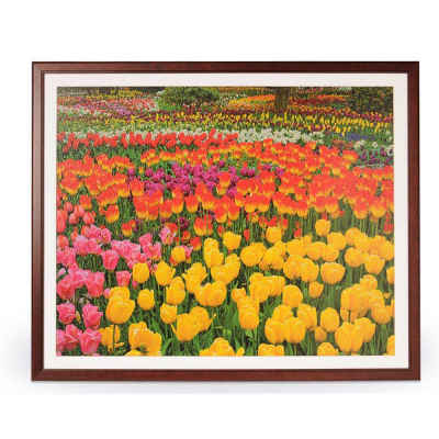 "1500 Piece Jigsaw Puzzle Frame Wooden Frame for Puzzles 28.75"" x 36"""