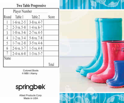 Boots Bridge Tally Sheets Bridge Playing Cards Accessory
