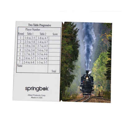 Iron Horse Bridge Tally Sheets Bridge Playing Cards Accessory