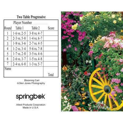 Blooming Cart Bridge Tally Sheets Bridge Playing Cards Accessory