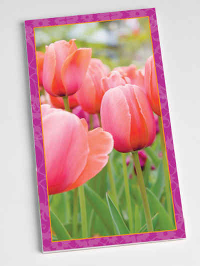Tulips Bridge Score Pads Playing Cards Accessory