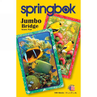 Goldfinch Bridge Jumbo Print Score Pads Playing Cards Accessory