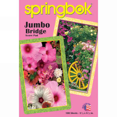 Blooming Cart Jumbo Print Playing Card Score Pad 100 Sheets