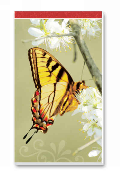 Butterflies Bridge Score Pads Playing Cards Accessory