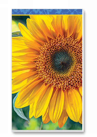 Sunflowers Bridge Score Pads Playing Cards Accessory