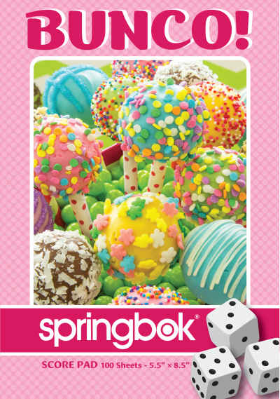 Cake Pops Bunco Score Pads Playing Cards Accessory