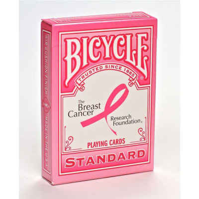Pink Ribbon Bicycle Playing Cards Standard Index Playing Cards