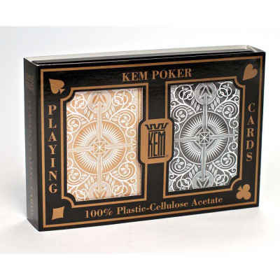 Kem Arrow Wide Standard Index Playing Cards Gold and Black Deck Standard Index Playing Cards