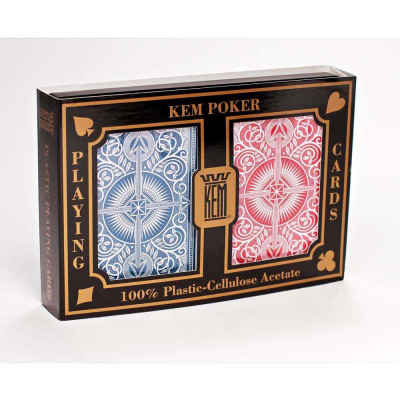 Kem Arrow Wide Standard Index Playing Cards Blue and Red Decks Standard Index Playing Cards