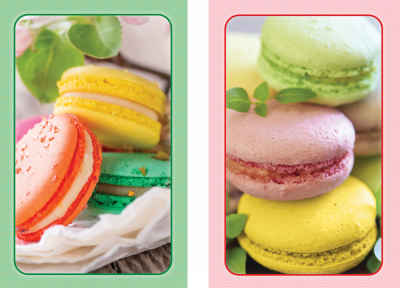 Macarons! Bridge Standard Index Playing Cards