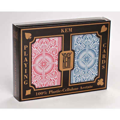 Kem Arrow Narrow Jumbo Print Index Playing Cards Red and Blue Decks