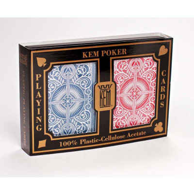 Kem Arrow Wide Jumbo Print Index Playing Cards Blue and Red Decks Jumbo Print Index Playing Cards