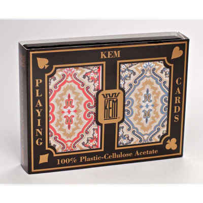 Kem Paisley Narrow Jumbo Print Index Playing Cards
