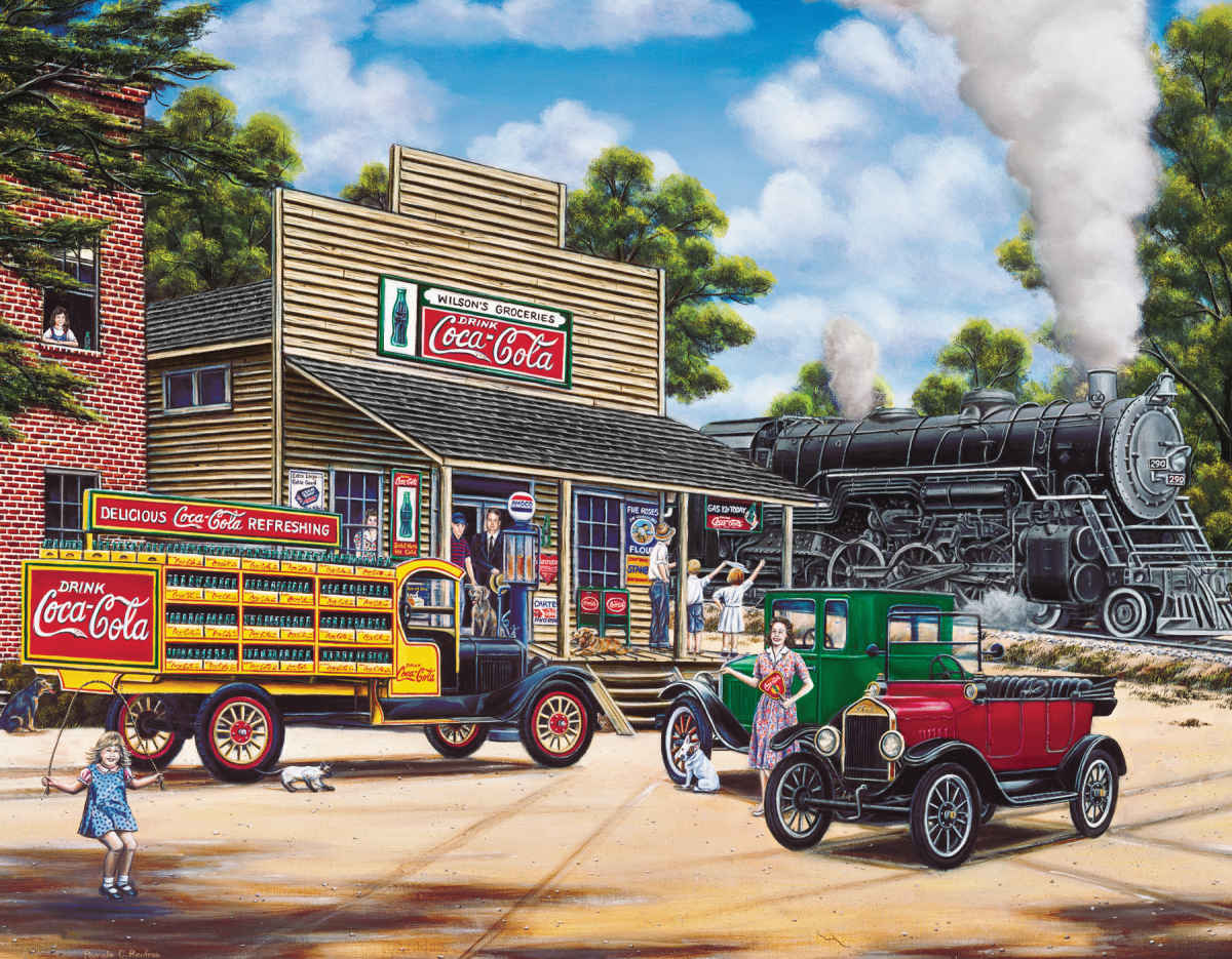 Coca cola all aboard 1000 piece jigsaw puzzle Coloring book for adults national bookstore price