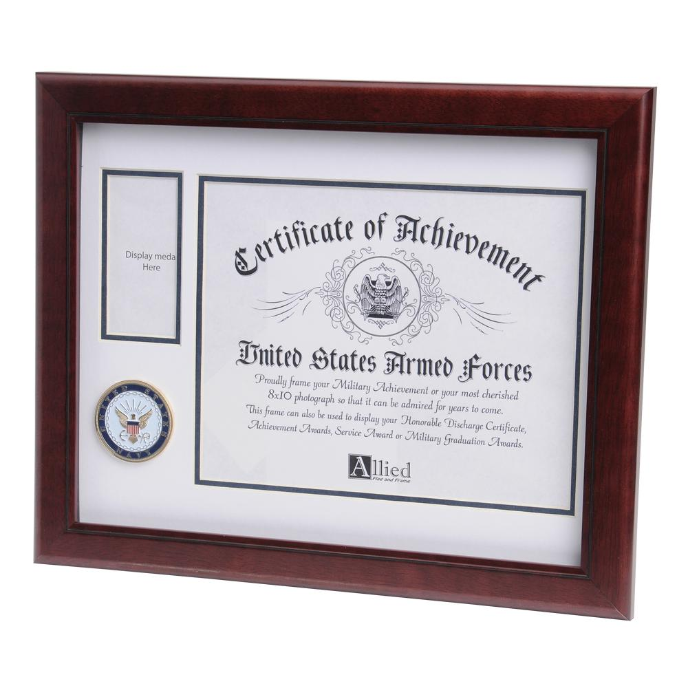 U.S. Navy Medallion 8-Inch by 10-Inch Certificate and Medal Frame