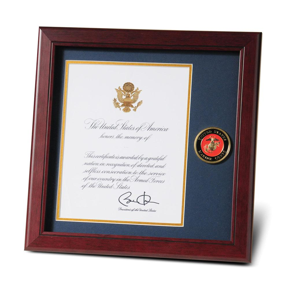 U.S. Marine Corps Medallion 8-Inch by 10-Inch Presidential Memorial ...