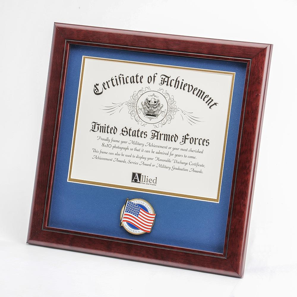 American Flag Medallion 8-Inch by 10-Inch Certificate Frame