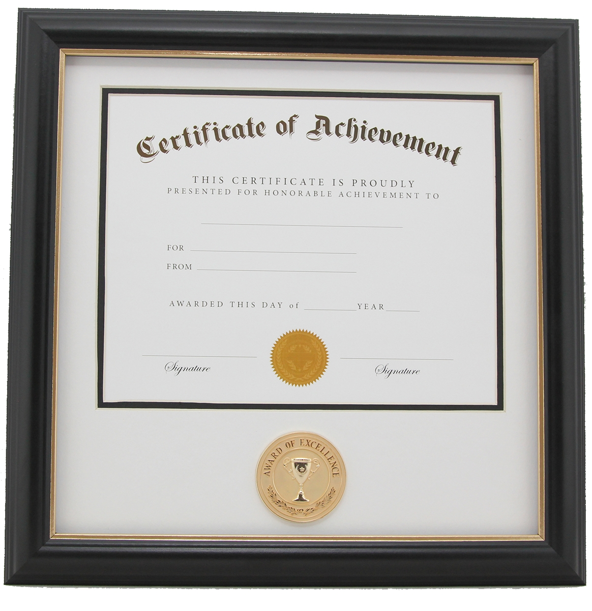 Award of Excellence 8-Inch by 10-Inch Certificate Frame - Black