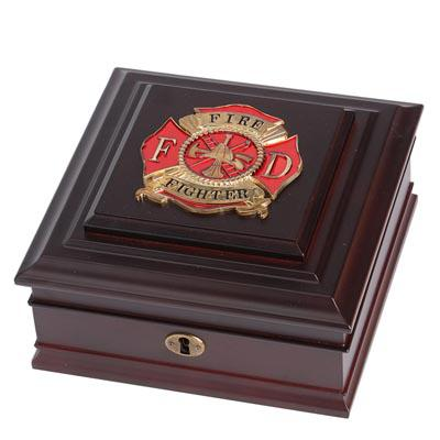 Firefighter Medallion Desktop Box