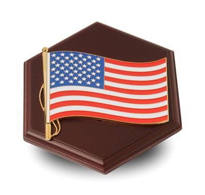 American Flag Medallion Paperweight