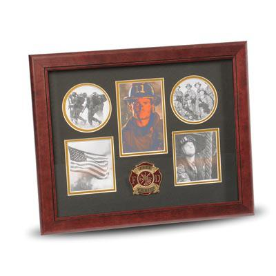 Firefighter Medallion 5 Picture Collage Frame