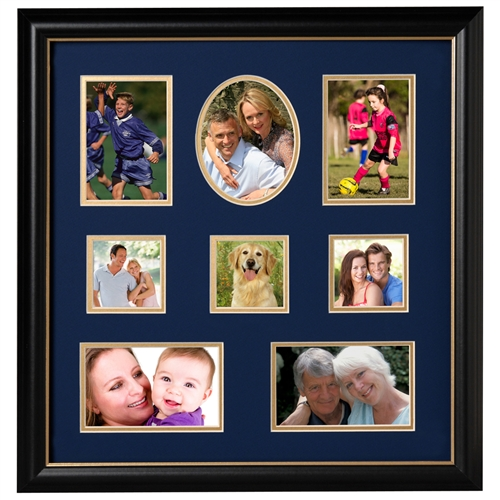 Decorative 16-Inch by 17-Inch Collage Picture Frame
