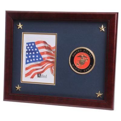 U.S. Marine Corps Medallion 5-Inch by 7-Inch Picture Frame with Stars
