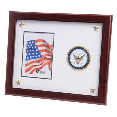 U.S. Navy Medallion 5-Inch by 7-Inch Picture Frame with Stars