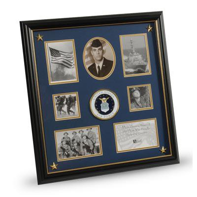 U.S. Air Force Medallion 7 Picture Collage Frame with Stars