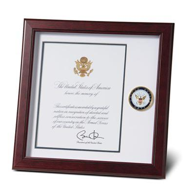 U.S. Navy Medallion 8-Inch by 10-Inch Presidential Memorial Certificate Frame