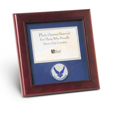 Aim High Air Force Medallion 4-Inch by 6-Inch Landscape Picture Frame
