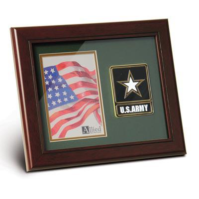 Go Army Medallion 4-Inch by 6-Inch Portrait Picture Frame