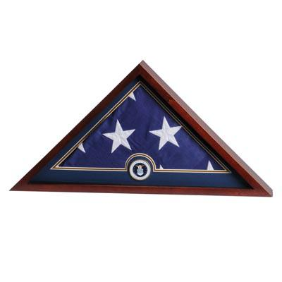 US Flag Display Case with Air Force Medallion