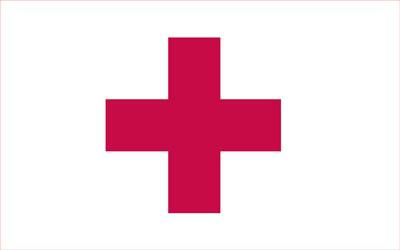 Red Cross Flag - 4 x 6 - Nylon