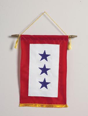 Blue Star Banner - Three Stars