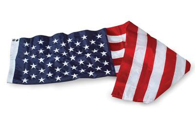 U.S. Flag - 8 x 12 Embroidered Nylon
